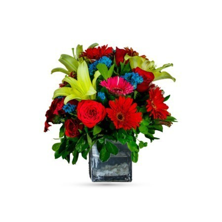 Confetti Explosion with glass vase
